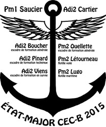 État Major 2015 Cadets de Bagotville