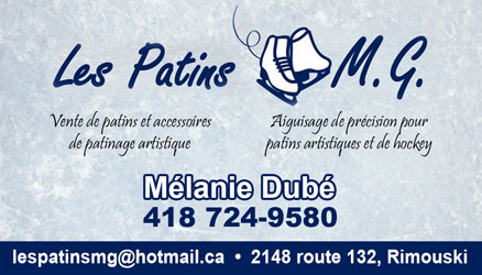 Carte d'affaire Patins Mg'